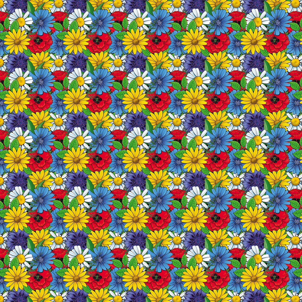 Colorful Flowers Decal Floral Pattern  12
