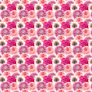 "12"" x 12"" Coral Pink Flowers Floral Decal Flowers Pattern Sheet Waterproof - Gloss Finish"