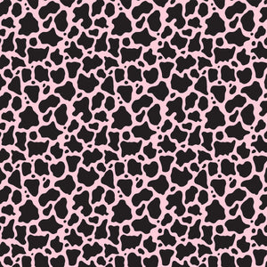 "NEW Cow Animal Print Pink Pattern Decal 12"" x 12"" Sheet Waterproof - Gloss Finish"