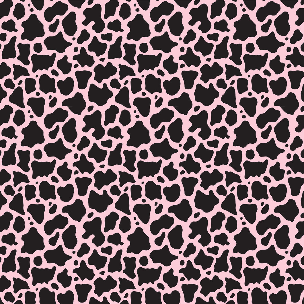 NEW Cow Animal Print Pink Pattern Decal 12