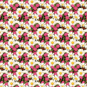 "Daisies and Flowers Decal Vinyl Floral Pattern Decal 12"" x 12"" Sheet Waterproof Adhesive - Gloss Finish"