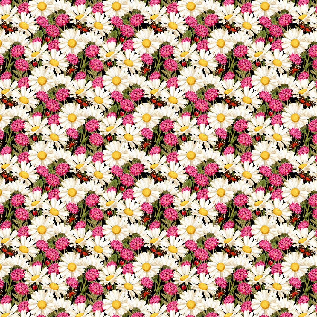 Daisies and Flowers Decal Vinyl Floral Pattern Decal 12