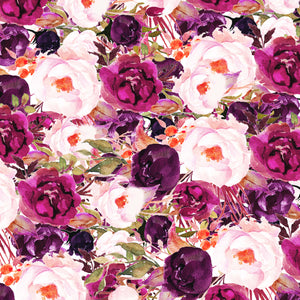 "Deep Pink Roses Flowers Pattern Decal 12"" x 12"" Sheet Waterproof - Gloss Finish"