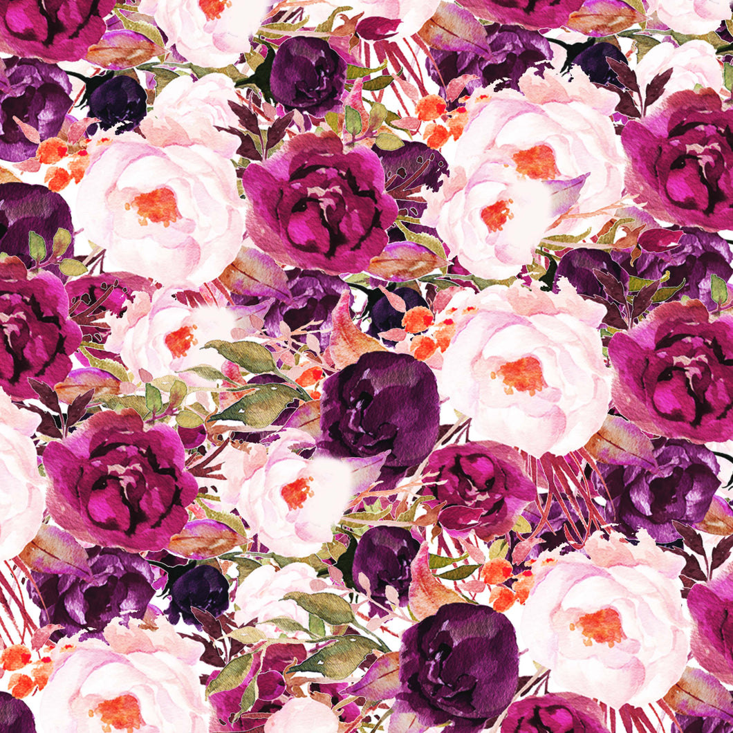 Deep Pink Roses Flowers Pattern Decal 12
