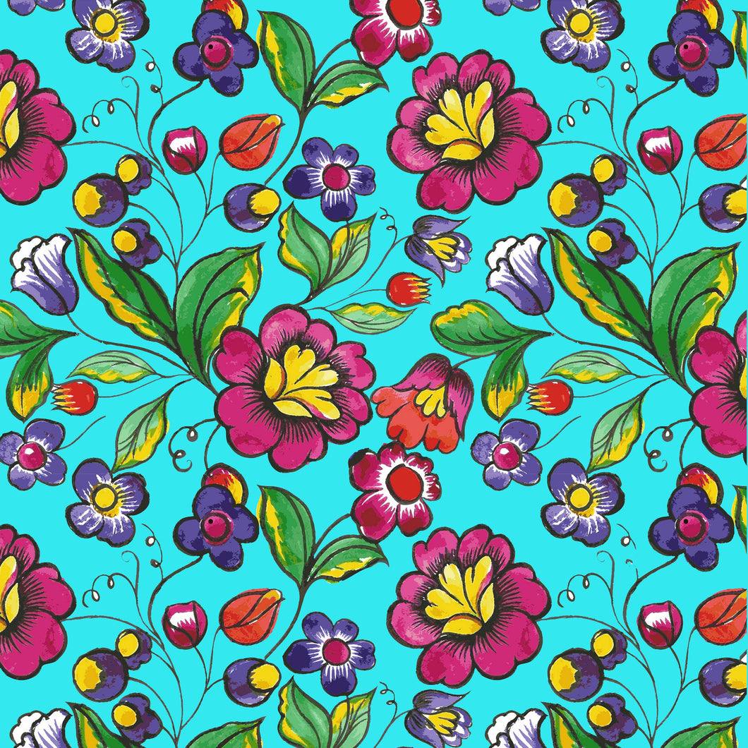 Mexican Flower Decal Vinyl Floral Pattern Decal 12