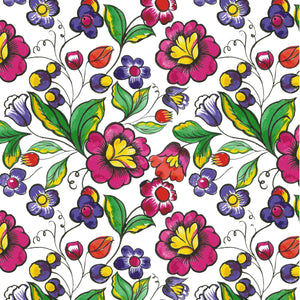 "Mexican Flower Decal Vinyl Floral Pattern Decal 12"" x 12"" Sheet Waterproof Adhesive - Gloss Finish"