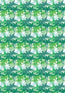 "12"" x 17"" Cool and Breezy Palm Tree Trees Pattern HTV Sheet"