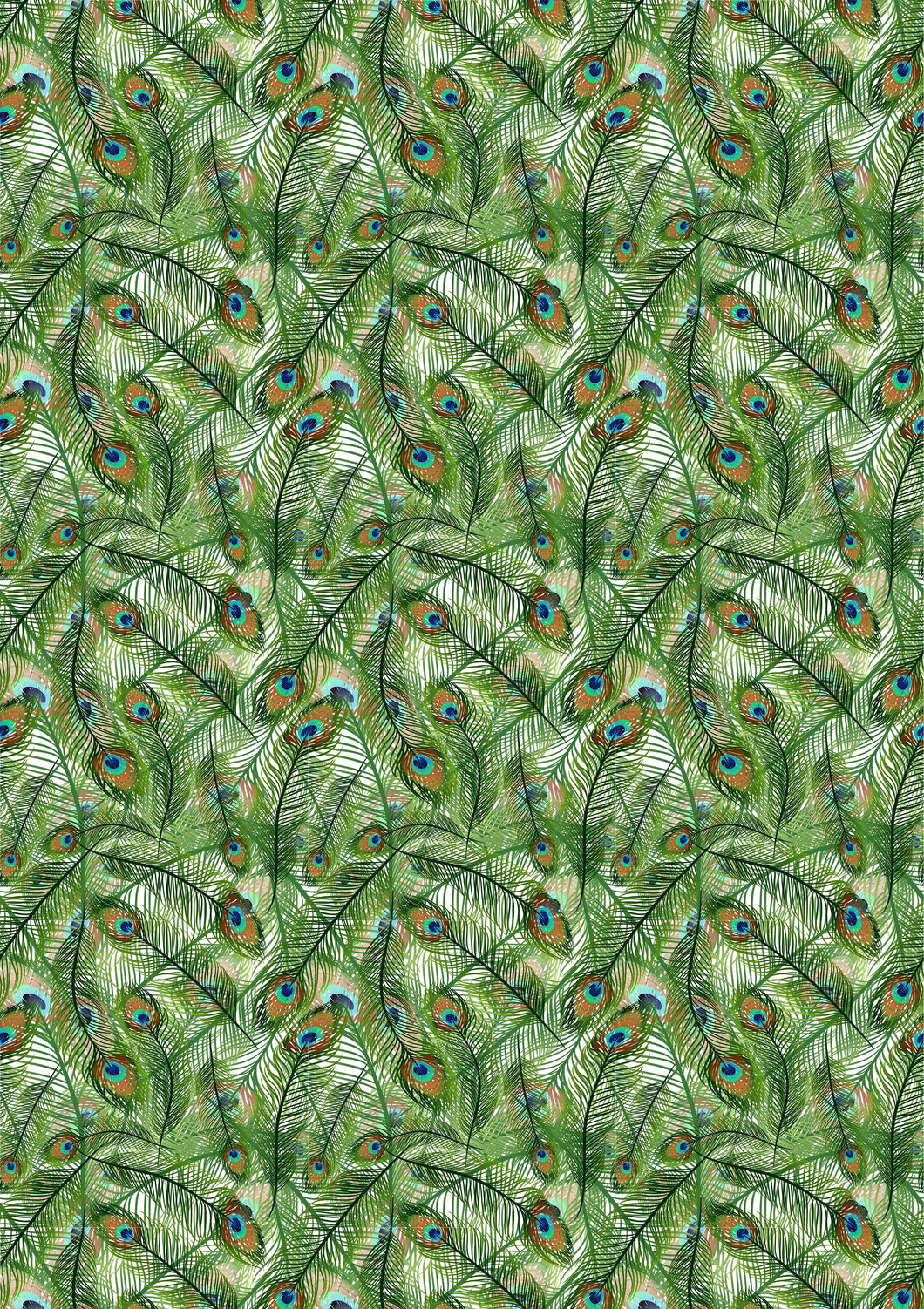Peacock Feathers Flowers HTV Floral Mother's Day Wedding Pattern HTV Sheet