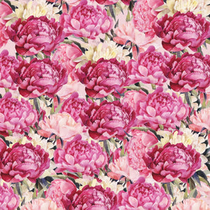 "Peonies All Over Pattern Decal Flowers 12"" x 12"" Sheet Waterproof - Gloss Finish"