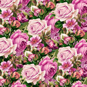 "Pink Roses Pattern Decal 12"" x 12"" Sheet Waterproof - Gloss Finish"