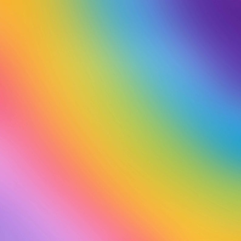 Rainbow Ombre Pattern Decal 12