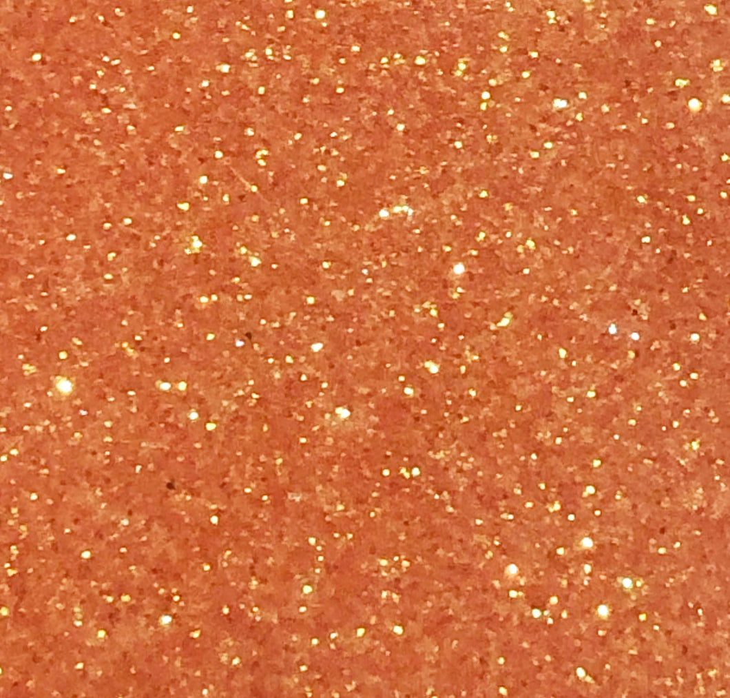 "Rainbow Orange Glitter HTV 12"" x 19.5"" Sheet - Heat Transfer Vinyl"