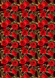 "12"" x 17"" Red Roses Pattern HTV 5 de Mayo Mexico - Heat Transfer Vinyl Sheet"