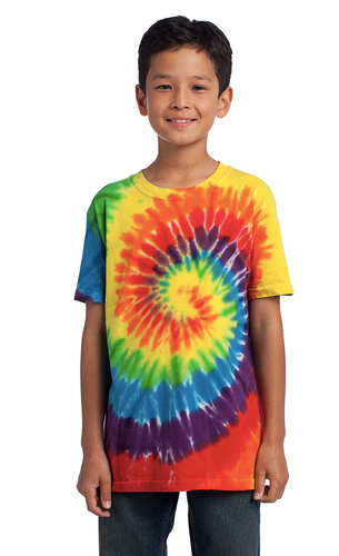 Port & Company Tie-Dye T-Shirt YOUTH 100% Cotton----(4 Color Options)