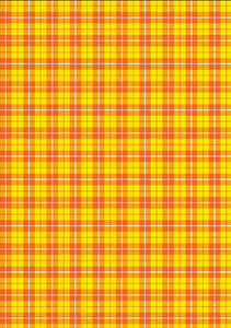 "12"" x 17"" Fall Plaid Yellow Orange Preppy Pattern HTV - Heat Transfer Vinyl Sheet"