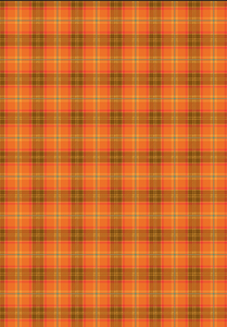 "12"" x 17"" Fall Orange Plaid Pattern HTV - Heat Transfer Vinyl Sheet"