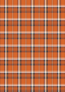 "12"" x 17"" Fall Orange and Black Plaid Pattern HTV - Heat Transfer Vinyl Sheet"