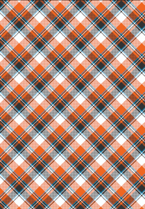 "12"" x 17"" Fall Plaid Large White Orange Blue Pattern HTV - Heat Transfer Vinyl Sheet"