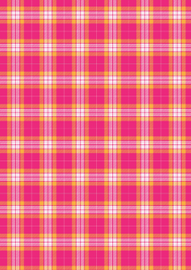 "12"" x 17"" Fall Plaid Hot Pink with Orange Pattern HTV - Heat Transfer Vinyl Sheet"