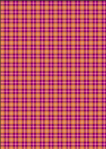 "12"" x 17"" Fall Plaid Magenta Orange Pattern HTV - Heat Transfer Vinyl Sheet"