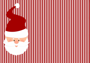 "12"" x 17""  Santa Stripes Duo Pattern HTV Sheet"