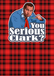 "12"" x 17""  You Serious Clark? Eddie Duo Pattern HTV Sheet"