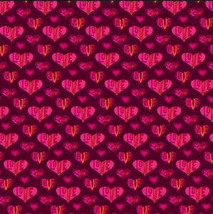 "12"" x 12"" Valentine's Love Hearts Pattern Sheet Waterproof - Gloss Finish"