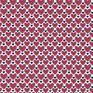 "12"" x 12"" Valentine's Shades of Red with Black Hearts Pattern Sheet Waterproof - Gloss Finish"