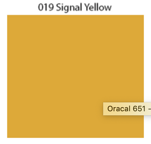 Solid Decal Oracal 651 12 X / Signal Yellow Decal
