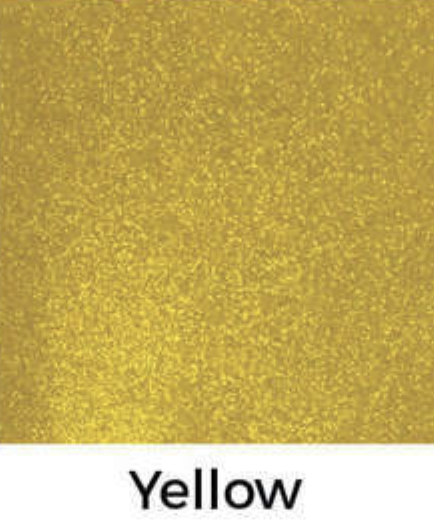 Yellow Glitter Decal 12 X Decal