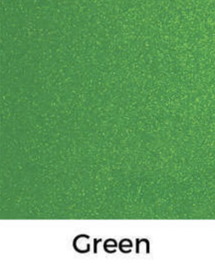 Green Glitter Decal 12 X Decal