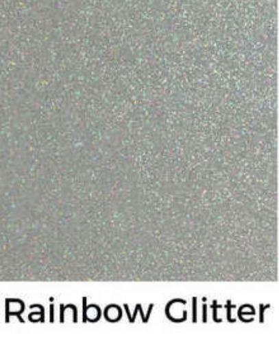 Rainbow Glitter Decal 12 X Decal