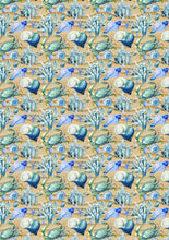 "Load image into Gallery viewer, 12"" x 17""  Sea Shells HTV Sea Ocean Beach Sand Pattern HTV Sheet"