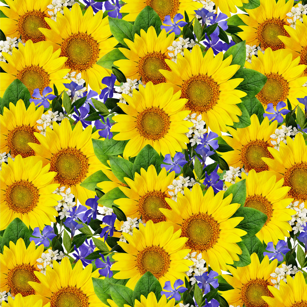 NEW Sunflowers Flowers Pattern Decal 12