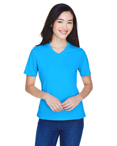 2XLARGE ALL OTHER COLORS Team 365 Ladies' Zone Performance V-Neck T-Shirt 100% Polyester DriFit