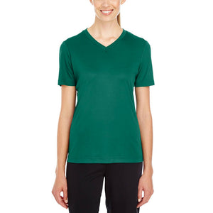 3XLARGE ALL OTHER COLORS Team 365 Ladies' Zone Performance V-Neck T-Shirt 100% Polyester DriFit