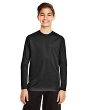 Load image into Gallery viewer, Youth Long Sleeve Team 365 Unisex Zone Performance T-Shirt 100% Polyester Drifit
