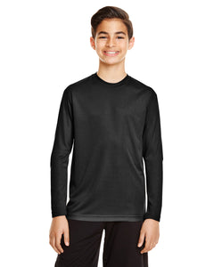 Youth Long Sleeve Team 365 Unisex Zone Performance T-Shirt 100% Polyester Drifit