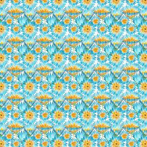 "12"" x 12""  Yellow Flowers Floral Decal Flowers Pattern Sheet Waterproof - Gloss Finish"