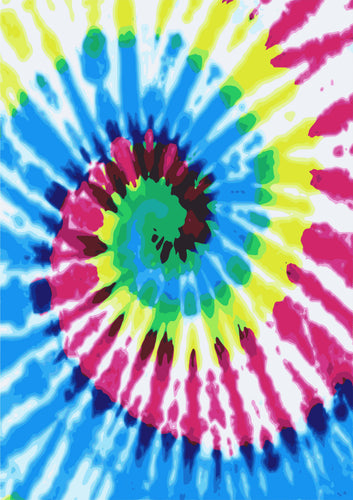 Tie Dye HTV Pink Yellow Blue Pattern HTV 12'