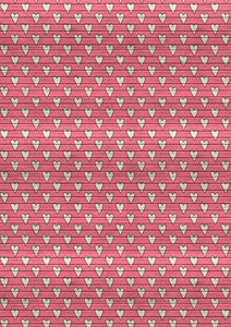"12"" x 17  Hearts on Pink Wood Valentine's Day Pattern HTV Sheet Heat Transfer Vinyl Iron on Valentine10"
