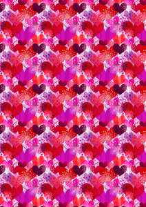 "12"" x 17 Hearts Valentine's Day Pattern HTV Sheet Heat Transfer Vinyl Iron on Valentine15"