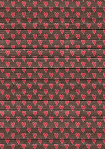 "12"" x 17""  Hearts on Wood Valentine's Day Loads of Love Pattern HTV Sheet Heat Transfer Vinyl Iron on Valentine1"