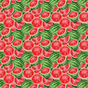 "Watermelons All Over Pattern Decal 12"" x 12"" Sheet Waterproof - Gloss Finish"