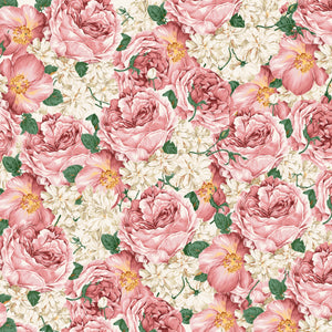 "Elegant Roses Flowers Pattern Decal 12"" x 12"" Sheet Waterproof - Gloss Finish"