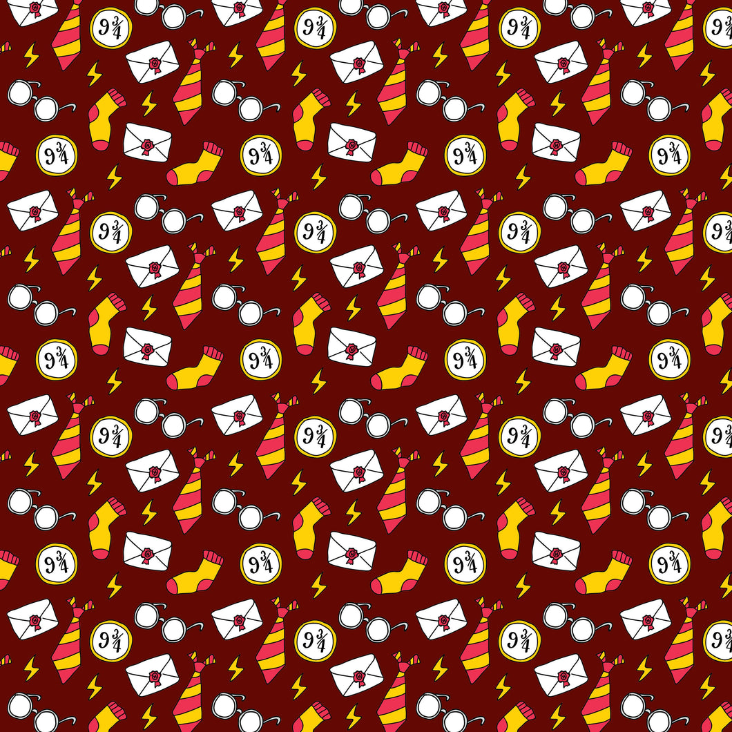 Wizard Magic School Pattern Decal 12