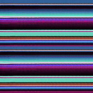 "Blue Zarape Serape Pattern Decal 12"" x 12"" Sheet Waterproof - Gloss Finish"
