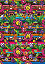 "Load image into Gallery viewer, 12"" x 17"" BRAND NEW Serape Zarape Animal Print FLORAL Mexico Colorful Background Pattern HTV Sheet"