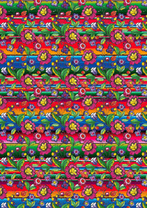 "12"" x 17"" BRAND NEW HTV Serape Zarape SMALL FLORAL Mexico Colorful Background Pattern Heat Transfer Vinyl Sheet"