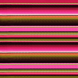 "Pink Orange Zarape Serape Pattern Decal 12"" x 12"" Sheet Waterproof - Gloss Finish"